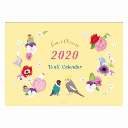 年1月始まり 壁掛 イラストカレンダー ボーオワゾー ロフト