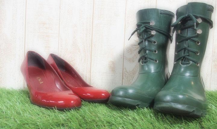 靴磨き女子部 雨の日の足元コーディネート4選