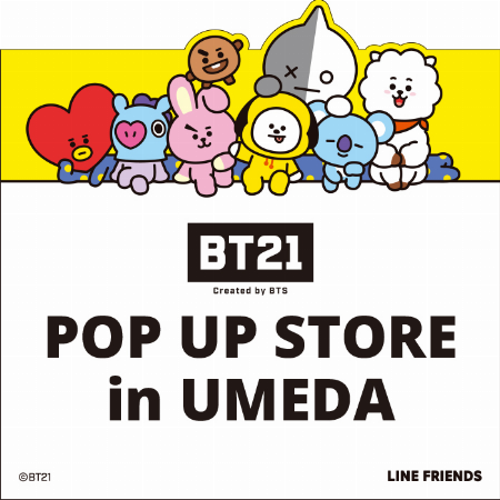 BT21 POP UP STORE in UMEDA